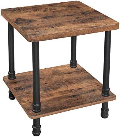 PJ Wood Rectangular Side Table – Honey Brown