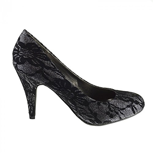 grigio Tacco Donne Partito Delle Alta Donna Footwear Kick Abito Nero Scarpe Di Damigella D'onore Corte q6x0fCx