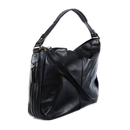 BAG Sac OH cuir Modèle main souple Noir MY femme à Cannes UP1P5xO