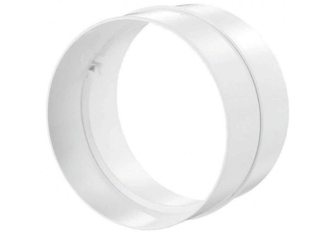Blauberg UK Joint de connexion pour tuyaux d'é vacuation - Forme : ronde - Couleur : blanc - Diamè tre : 102 mm RV 100
