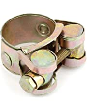 uxcell26mm to 28mm Pipe Hose Clamp Clip Fastener Brass Tone