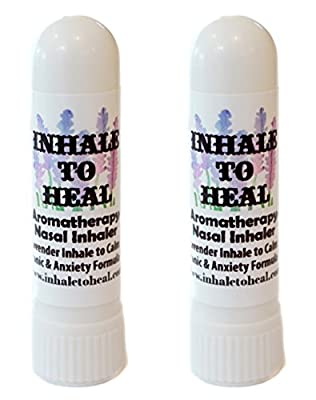 Pack of 2 Inhale to Heal Lavender Inhale to Calm Panic & Anxiety Formula Aromatherapy Nasal Inhalers