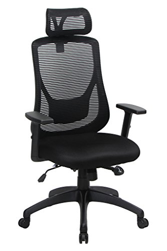 viva office ergonomic high back mesh chair with adjustable headrest and armrest viva1168f1