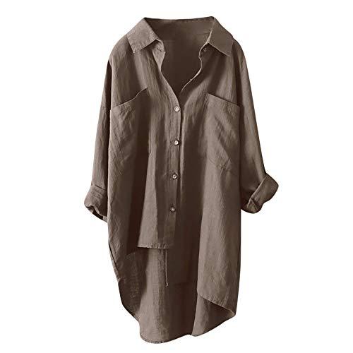 Manche Robe Taille Chic Tops Café Femme Longue Chemise Chemisier Haut Grande Blouse Aimee7 BI6qq