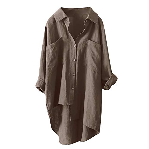 Haut Chemisier Grande Femme Tops Robe Longue Aimee7 Café Taille Manche Chic Blouse Chemise qPwgOxa