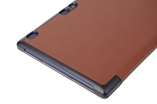 Lenovo Tab 2 A10-30F Funda, Vikoo Ultra Slim Ligera Smart-cáscara Cuero Case para Tableta TLenovo Tab 2 A10-30F Tablet PU Leather Cover Case - Negro Marrón