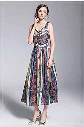 YnD Casual Dress For Women-Multi Color