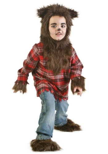 Werewolf Costume Toddler Fierce Werewolf Costume for Kids 4T Brown ()