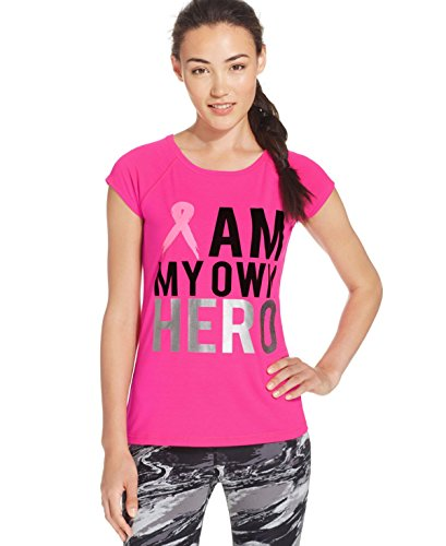 Ideology Pink Ribbon Hero Graphic T-Shirt Pink (Pink Ribbon Graphic)
