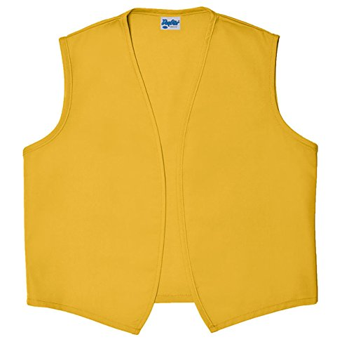 Style A740NP High Quality No Pocket Unisex Uniform Vest - Yellow, Small