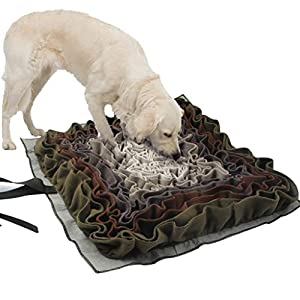 IFOYO Dog Snuffle Mat, Dog Feeding Mat Washable Snuffle Pad Smell Training Blanket Nose Work Feeding Mat Pet Activity Mat for Foraging Instinct, Sress Release, Slow Eating, 40x40cm/15.7x15.7in 15