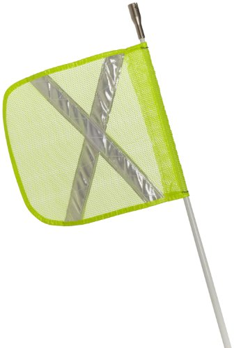 (Flagstaff FS3 Safety Flag with Reflective X and Light, Threaded Hex Base, 12