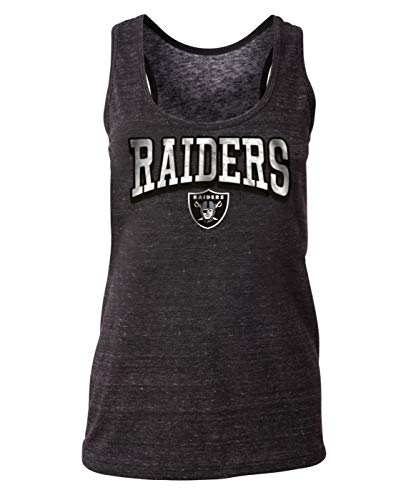 (New Era Oakland Raiders Women's NFL Downfield Racerback Tank Top Shirt)