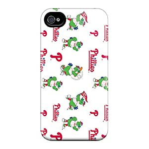 4/4s Scratch-proof Protection Case Cover For Iphone/ Hot Philadelphia Phillies Phone Case