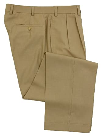 Ralph Lauren Wool Dress Pants For Men Classic Double Pleated ...