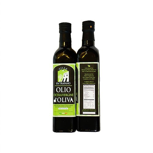 (Villa DiTrapano Olive Oil Extra Virgin - First Cold Pressed, Family Harvest Single Sourced from Italy, Original, Authentic, Unblended, Unfiltered, Unrefined, Robust, Rich in Antioxidants 17 FL oz.)