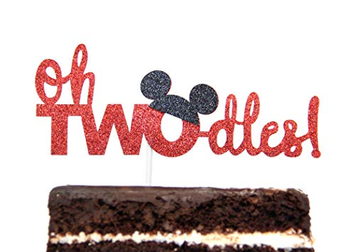 Twodles Cake Topper Mickey Mouse Inspired Two Year Birthday]()