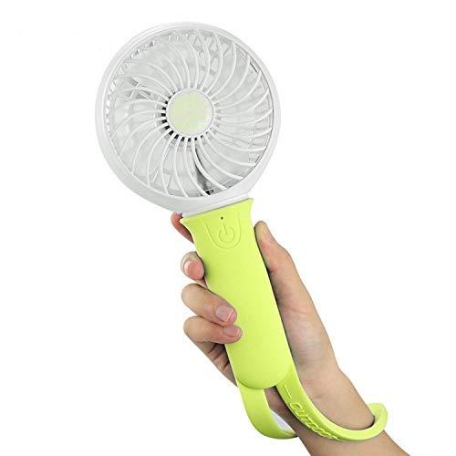 Portable Mini Fan 3 Speeds Rechargeable USB Fan Personal Handheld Fan with LED Light Silicone 18650 Li-ion 2200mAh ()