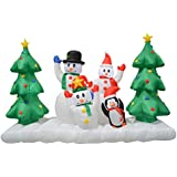 Impact Canopy Christmas Inflatable Decorations Outdoor Holiday Lighted Snowman Family 8 ft  sc 1 st  Amazon.com & Canopies Unlimited @ Amazon.com: