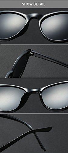 Gafas mujer negras mujer gato vintage Gafas de sol Ojo Ala Marco Gafas Mujer oscuras Retro para de sol Eyewear rosadas diseño de murciélago ovales para de UV400 Blanco de qHSvwR