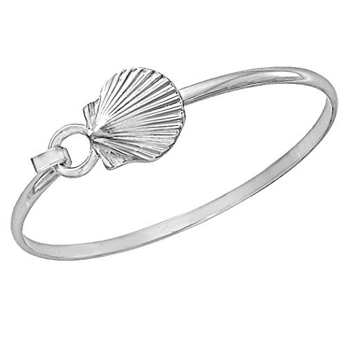 Cape Cod Jewelry-CCJ Scallop Shell Bracelet Sea Life Latch Cuff