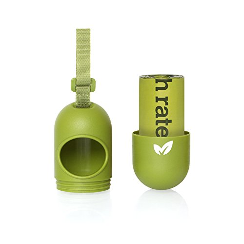 Earth Rated DISPGREEN - Dispensador para bolsas de residuos para perros con 15 bolsas biodegradables de popa y lavanda: Amazon.es: Productos para mascotas