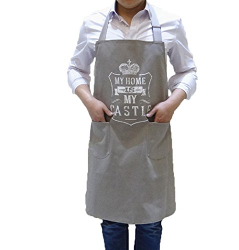 EDICP Aprons for Women,Men Thicker 100% Cotton Canvas kitchen Cooking Apron Bibs with 2 Pockets (Personalized Chef Apron)