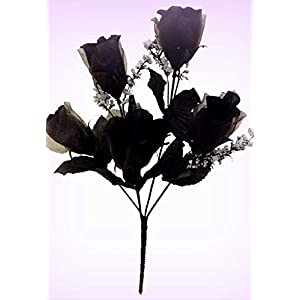 Inna-Wholesale Art Crafts New 60 Black Roses Silk Bouquet Decorating Flowers Artificial Buds Bridal Centerpieces - Perfect for Any Wedding, Special Occasion or Home Office D?cor 54