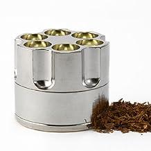 Revolver Gun Bullet Cylinder Shap 3 Pieces Metal Pollen Herb Spice Grind Grinder