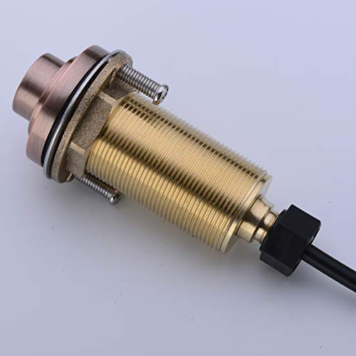 SINKINGDOM SinkTop Air Switch Kit (Full Brass) for Disposal, Dual Outlet, (Antique Copper) by SINKINGDOM (Image #2)