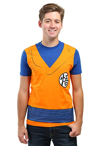 [Dragon Ball Z Goku Costume Adult T-Shirt (X-Large)] (Dragon Ball Z Costume For Adults)
