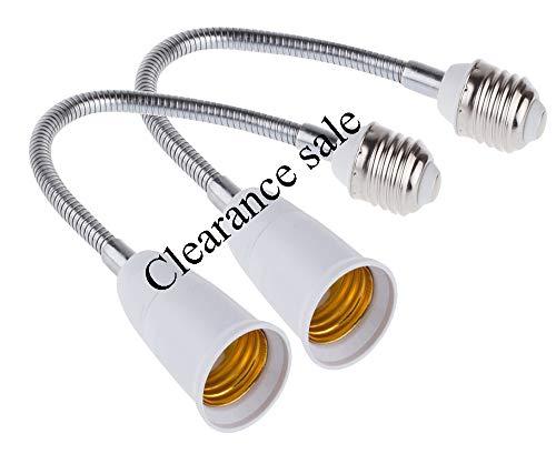 Clearance sale 15.75inches E27 to E27 LED Light Bulb Lamp Holder Flexible Gooseneck Extension Adaptor Screw Socket Extender