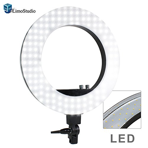 LimoStudio LED 18'' Ring Flash Light Dimmable SMD LED Lighting with Carrying Case, AGG302V2 by LimoStudio