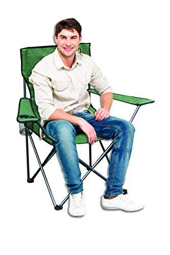 Quik Chair Folding Quad Chair with Carrying Bag (Moss Green)