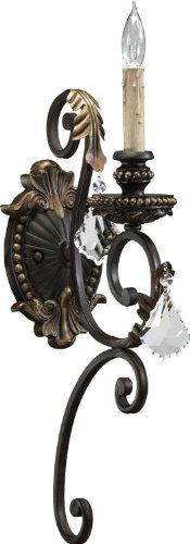 Quorum International 5357-1-44 Sconce Without Shades in Toasted Sienna with Mystic - International Got Shades