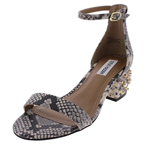 Steve Madden Womens Indie Studded Open Toe Dress Sandals Beige 7 Medium...