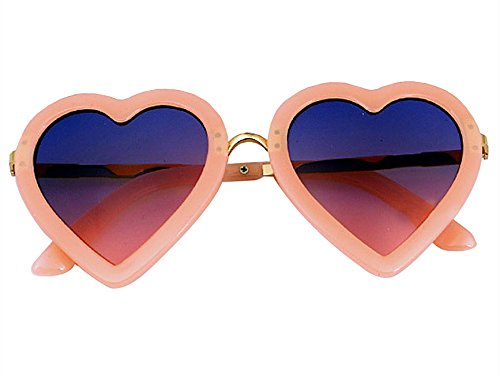 Baonmy Toddler Girls Sunglasses,100% UV Proof Polarized Heart Shaped Sunglasses for Toddler Girls Age 3-10 (Pink 2)