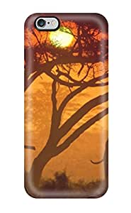 Awesome Design Elephant In The Sunset Animal Elephant Hard Case Cover For Iphone 6 Plus