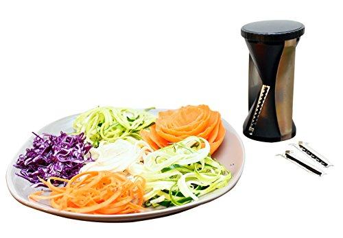 Best spiralizer vegetables slicer 4 interchangeable for Zoodles kitchen set