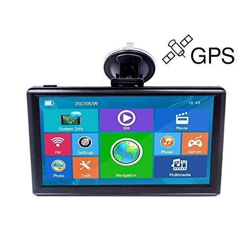 for Car 7 Inch Touch Screen 8GB Vehicle GPS Navigator System Built-in Multimedia Entertainment Advanced Lane Guidance and Spoken Turn-by-Turn Directions with Lifetime Map Update ()