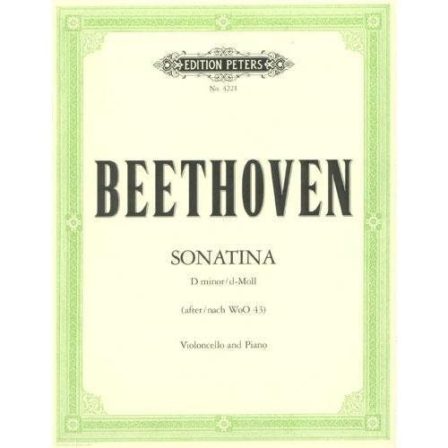 Beethoven Ludwig Sonatina in d minor WoO 43 for Cello Piano Arranged by Stutschewsky-Thaler Peters