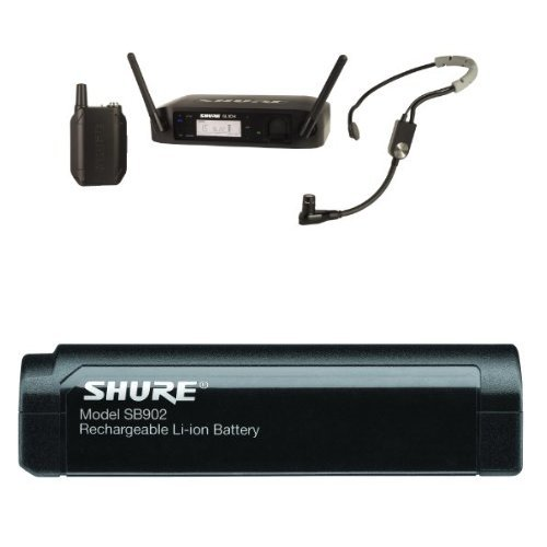 - Shure GLXD14/SM35 Headworn Wireless System with SM35 Headset Microphone With Shure SB902 Rechargeable Lithium-Ion Battery for GLX-D Bundle