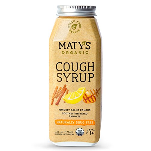 Matys Organic Cough Syrup, 6 Fluid Ounce, Soothes Throats & Calms Dry Coughs with Organic Honey and Immune Boosting Ingredients, Helps Ease Common Cold Symptoms