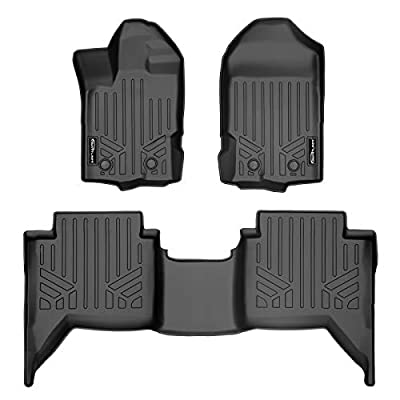 MAXLINER Custom Fit Floor Mats 2 Row Liner Set Black for 2020, 2020 Ford Ranger SuperCrew Cab: Automotive