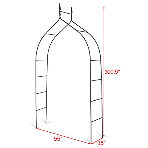 Allblessings Wide Steel Arch 8'4 High x 4'7 Rose Arbor Climbing Plant Outdoor Garden For Decor Support by Allblessings (Image #1)