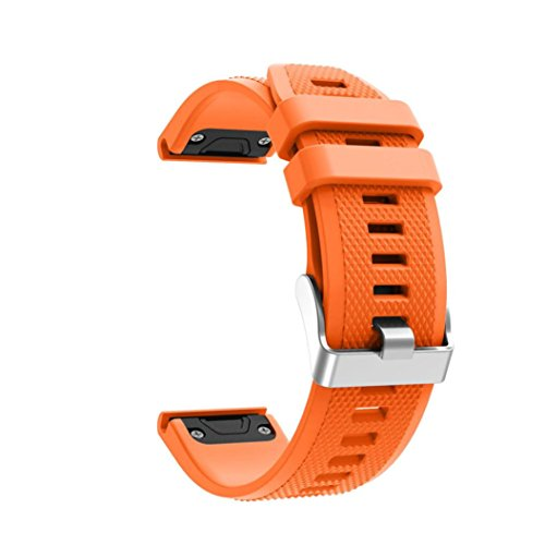 Price comparison product image For Garmin Forerunner 935 GPS Watch,Vanvler Replacement Silicagel Soft Quick Release Kit Band Strap Accessories (Orange)