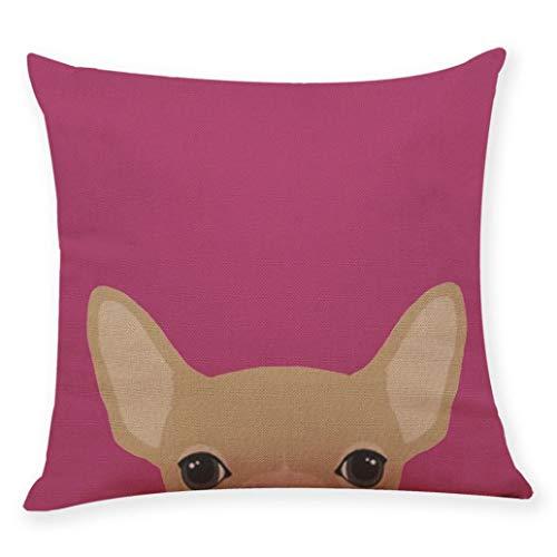 OCASHI Fashion Cushion Cover Cute Dog Head Throw Pillowcase Pillow Covers Sofa Bedroom Car 45X45 Cm (45CM X 45CM, F)