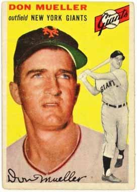 1954 New York Giants Baseball (Don Mueller - New York Giants (1954 Topps Baseball Card) #42)