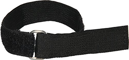 Heavy Duty Cinch Straps with Stainless Steel Metal Buckle, Reusable Durable Hook and Loop, Multipurpose Securing Straps - 4 Pack - 1.5