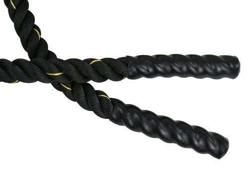 ZENY Black 2'' Width Poly Dacron 40ft Length Battle Rope Workout Training Undulation Rope Fitness Rope Exercise Equipment by ZENY (Image #4)